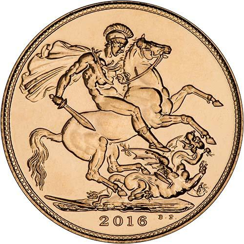 2016 Gold Full Sovereign Elizabeth II Bullion 21612