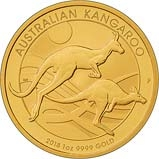 2018 1 oz Gold Coin Kangaroo Nugget Perth Mint Bullion 21005