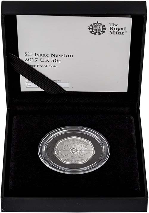 2017 Sir Isaac Newton 50p Silver Proof Coin Chard