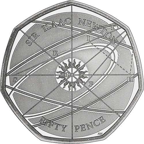 2017 Sir Isaac Newton 50p Silver Proof Coin Chard