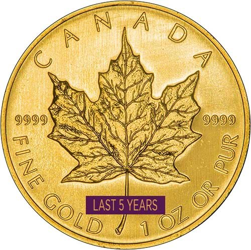 1 Ounce Gold Maple Coins Best Value Newly Minted Chards
