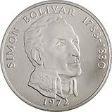 1972 Silver Panama 20 Balboas Bullion 24100