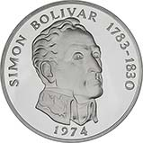 1974 Silver Panama 20 Balboas Proof 21569