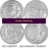 1 oz Silver Coin Our Choice CGT Exempt Secondary Market 21495