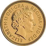 Gold Half Sovereign Elizabeth II Bullion 22264
