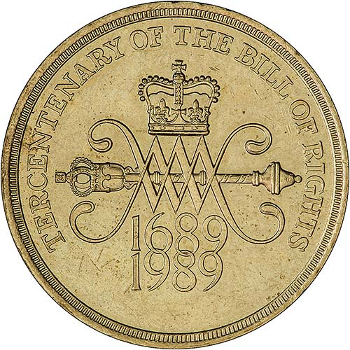 1989 commemorative 2 pound coin