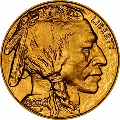 2008 Gold United States Buffalo 1 Oz Coin Chard