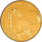 2014 1 oz Gold Coin Lunar Year of the Horse Royal Mint Bullion 24316