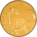 2014 1 oz Gold Coin Lunar Year of the Horse Royal Mint Bullion 24316
