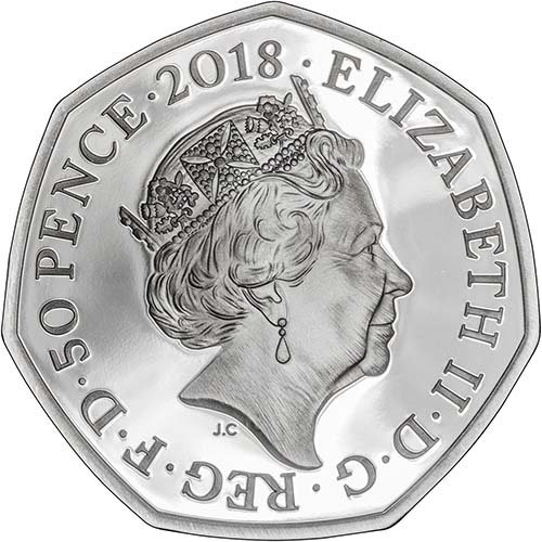 2018 Beatrix Potter Flopsy Bunny 50p Silver Proof Coin