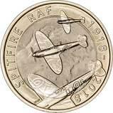 2018 UK Coin £2 BU RAF Centenary Spitfire 24936