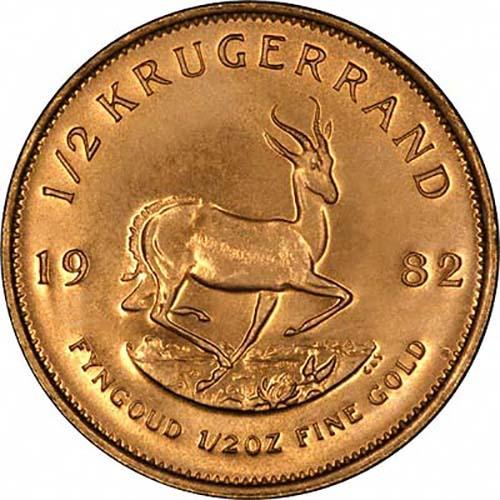 Secondary Market Krugerrand Half Ounce Gold Coin L Chard