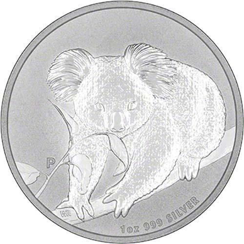 2010 Silver Koala 1 Oz Bullion Coin Chards