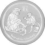 2016 1 oz Silver Coin Lunar Year of the Monkey Perth Mint Bullion 22721