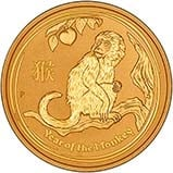 2016 1 oz Gold Coin Lunar Year of the Monkey Perth Mint Bullion 22171