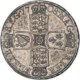 1708 UK Coin Half Crown Anne 20749