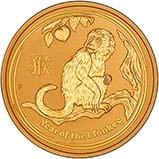 2016 0.5 oz Gold Coin Lunar Year of the Monkey Perth Mint Bullion 21892