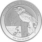 2016 1 Kg Silver Coin Kookaburra Bullion 21118