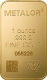 1 oz Gold Bar Metalor New 20665