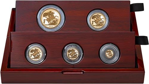 2019 5-Coin Gold Proof Sovereign Set 25140