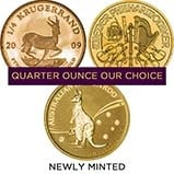 0.25 oz Gold Coin Bullion Best Value Newly Minted 24364