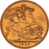 1959 Gold Sovereign Elizabeth II Royal Mint 21104