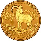 2015 0.5 oz Gold Coin Lunar Year of the Goat Perth Mint Bullion 23644