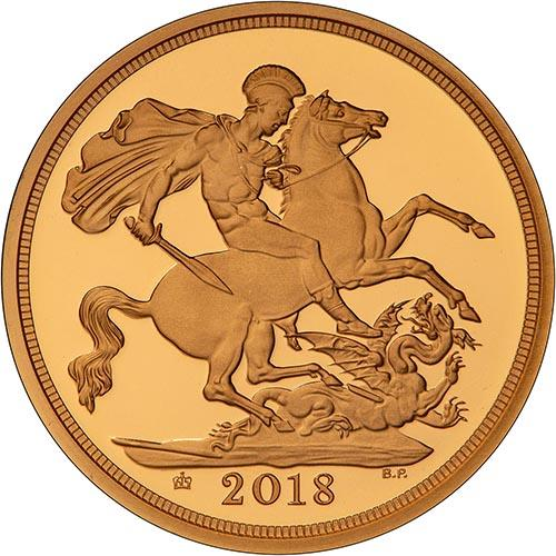 2018 Piedfort Sovereign Gold Proof  23862
