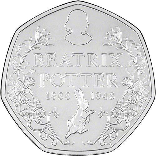 Beatrix Potter 150th Anniversary 50p Bu Coin Chard