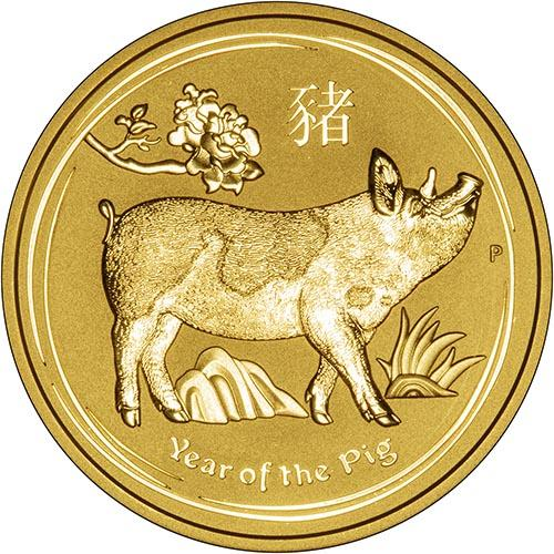 2019 Gold Year Of The Pig 1 Oz Bullion Coin Perth Mint