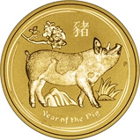 2019 1 oz Gold Coin Lunar Year of the Pig Perth Mint Bullion 23502