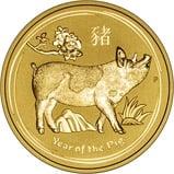 2019 1 oz Gold Coin Lunar Year of the Pig Perth Mint Bullion 23502