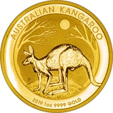 2019 1 oz Gold Coin Kangaroo Nugget Perth Mint Bullion 24830