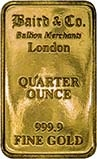0.25 oz Gold Bar Our Choice Pre-Owned 21987