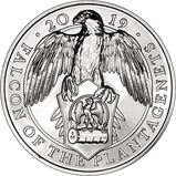 2019 £5 BU Queen's Beasts - Falcon of the Plantagenets 23981