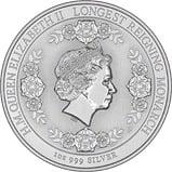 2015 Longest Reigning Monarch Intaglio 1oz Silver Coin 23942
