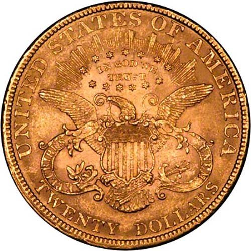 Gold Double American Eagle Coin Chards