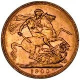 1900 Gold Sovereign Victoria Old Head Melbourne 24031