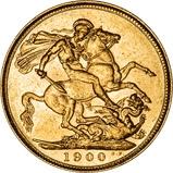 1900 Gold Sovereign Victoria Old Head Sydney 21658