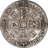 1676 Charles II Silver Crown  22041