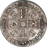 1676 Charles II Silver Crown  22041
