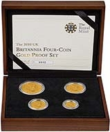 2010 4-Coin Gold Proof Britannia Set 21318
