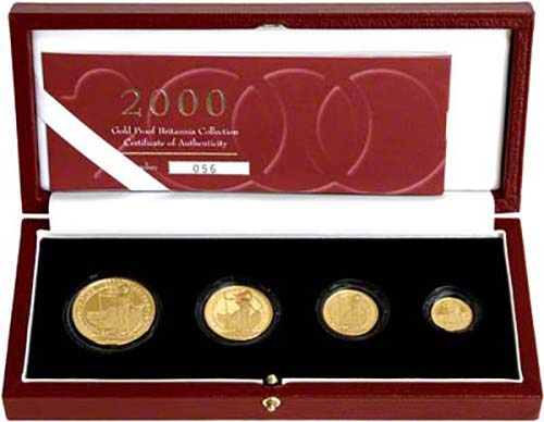 Gold Coin Sets Gold Britannia Proof Coin Sets 2000 Chard