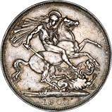 1902 Edward VII Silver Crown 24448
