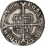 1551 Edward VI Silver Sixpence York Mint 24446