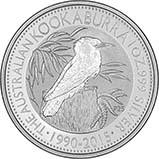 2015 1 Kg Silver Coin Kookaburra Bullion 21795