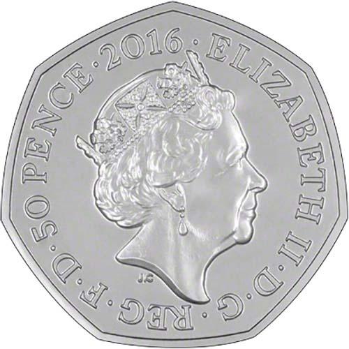 2016 Beatrix Potter Mrs Tiggy Winkle 50p Silver Proof