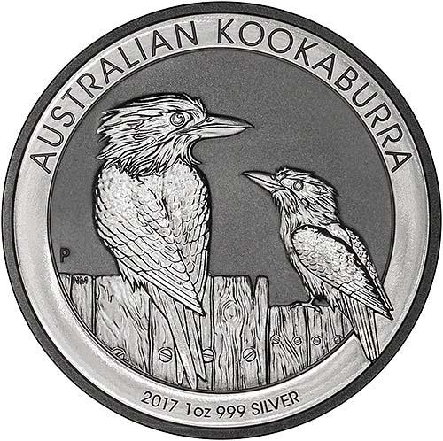 2017 Silver Kookaburra 1 Oz Bullion Coin Chard