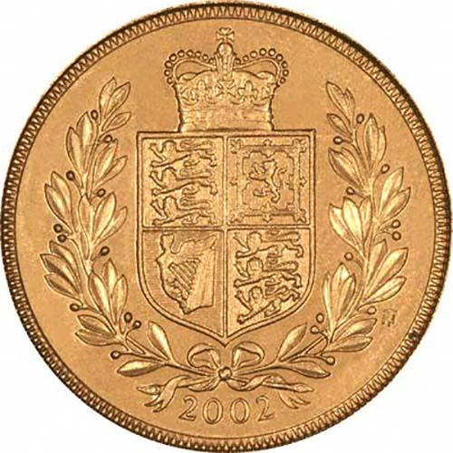 2002 Gold Full Sovereign Elizabeth II Bullion Reverse