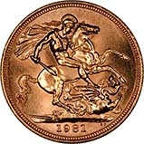 1981 Gold Sovereign Elizabeth II aUNC 23726